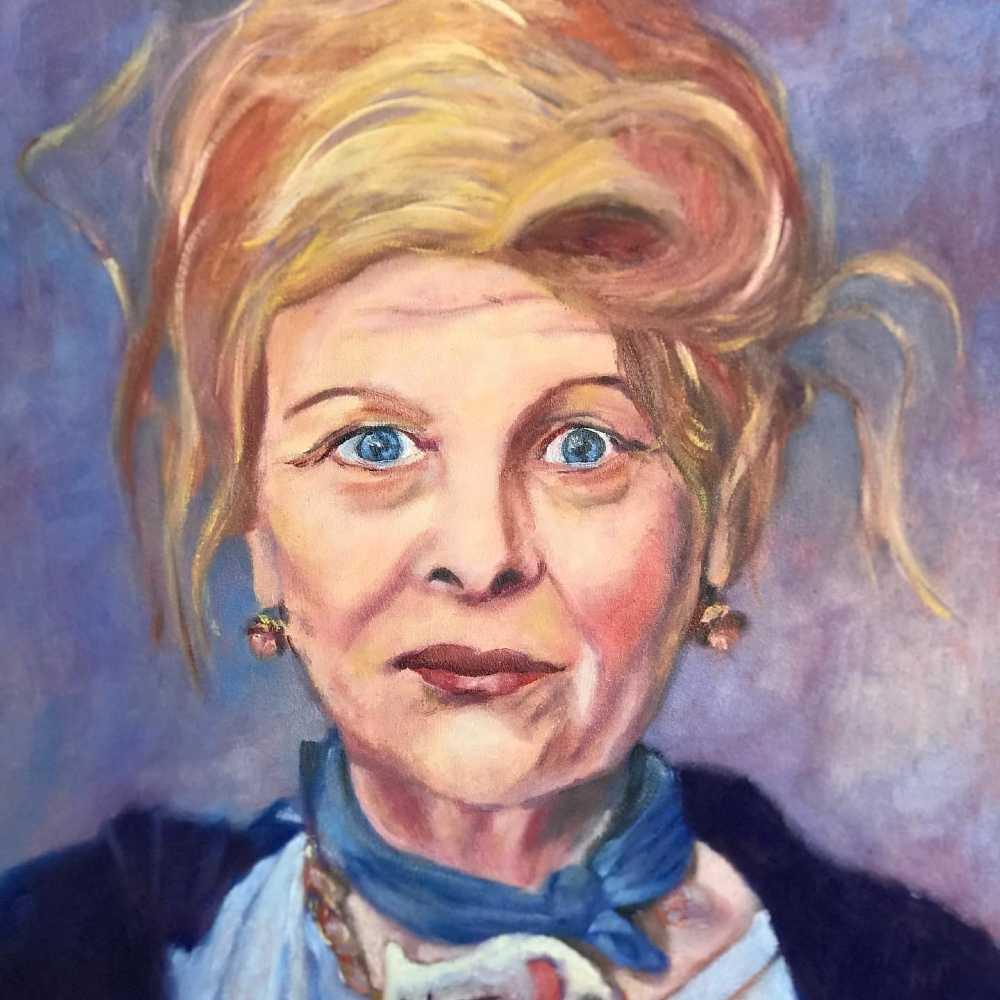 Schilderij van een vrouw - tentoonstelling_mona van almenkerk Midden-Delfland